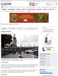 Journal les Devoir -Ecovolontariat