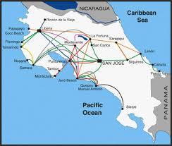 map transport Costa Rica