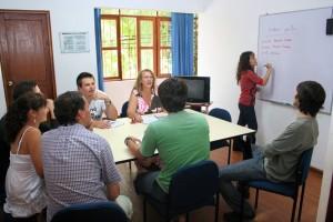 Classe dans programme immersion espagnol à Lima au Pérou