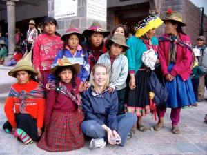 Communauté Andine native à Cusco au Pérou avec élève du programme d'immersion en espagnol